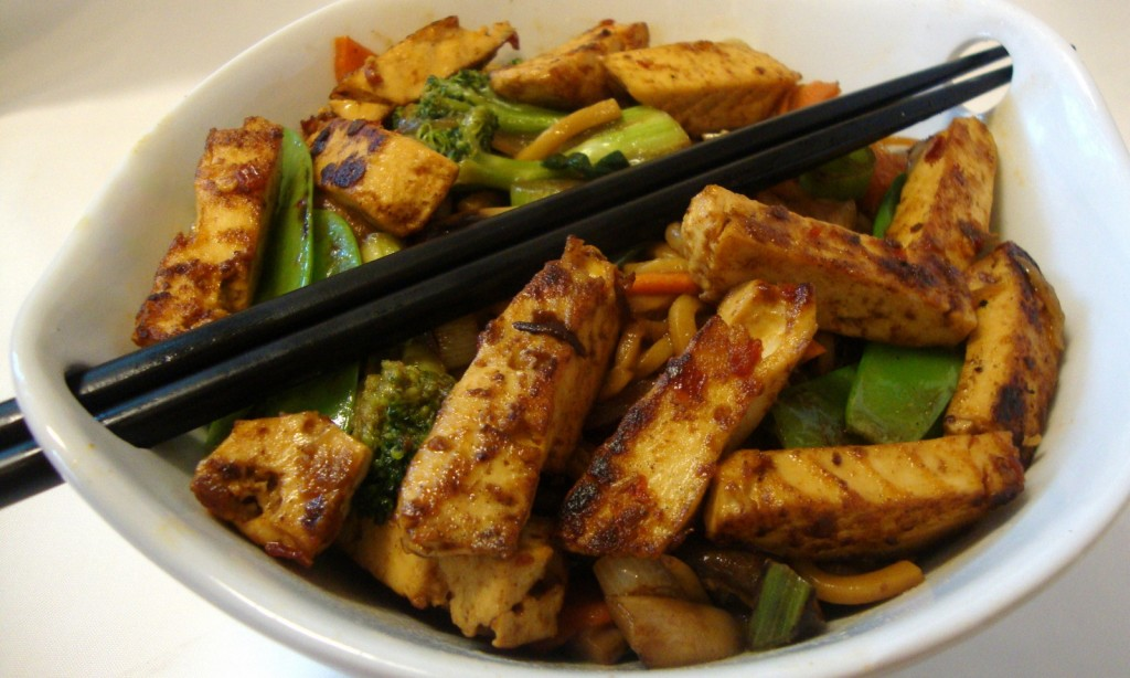 Stir Fry featuring Asian-Style Soy Chikun Strips