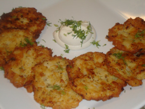 Potato and Onion Latkes