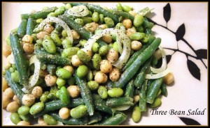 Three Bean Salad with Cumin-Scented Vinaigrette
