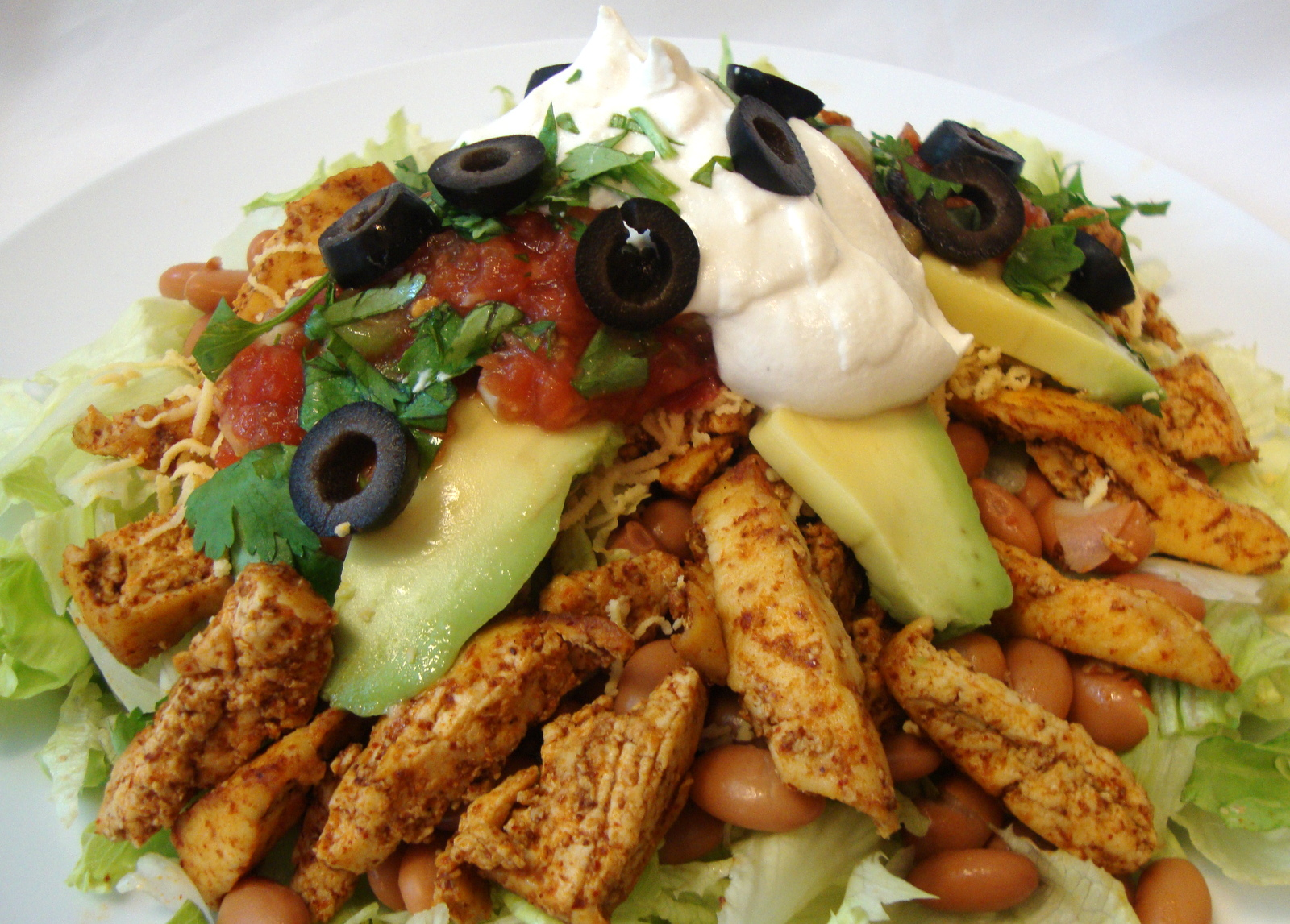 South of the Border Salad featuring Tex-Mex Soy Chikun Strips