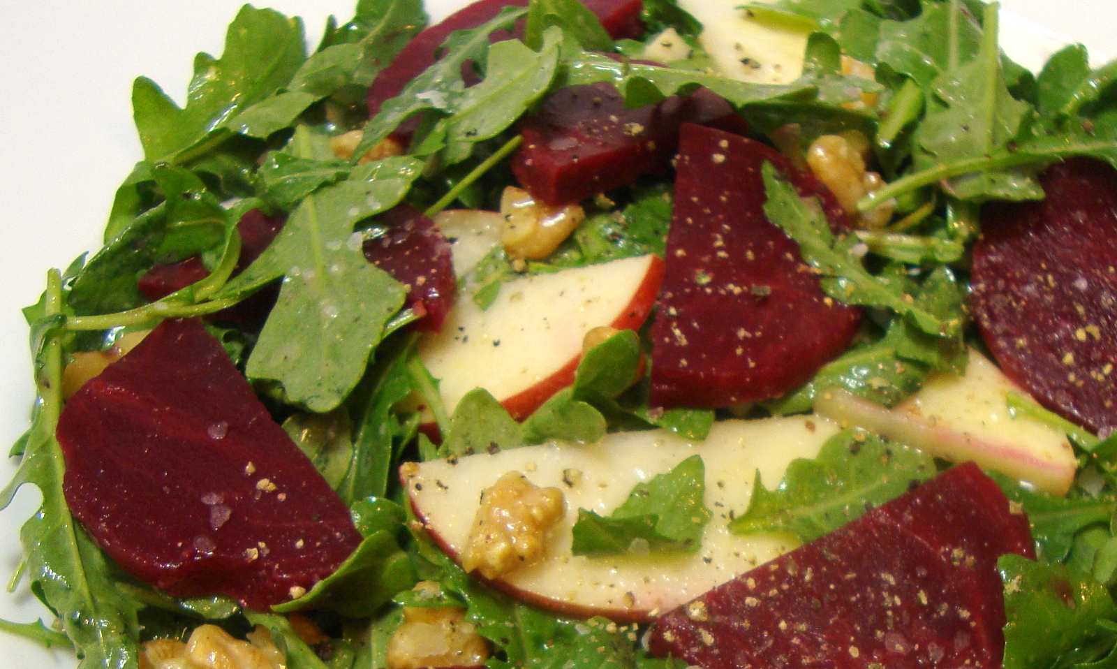 Apple, Walnut and Beet Salad with Citrus Miso Vinaigrette