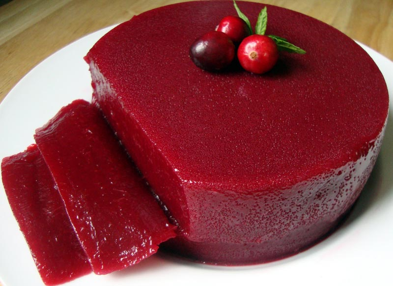 Jellied Port Wine Cranberry Sauce