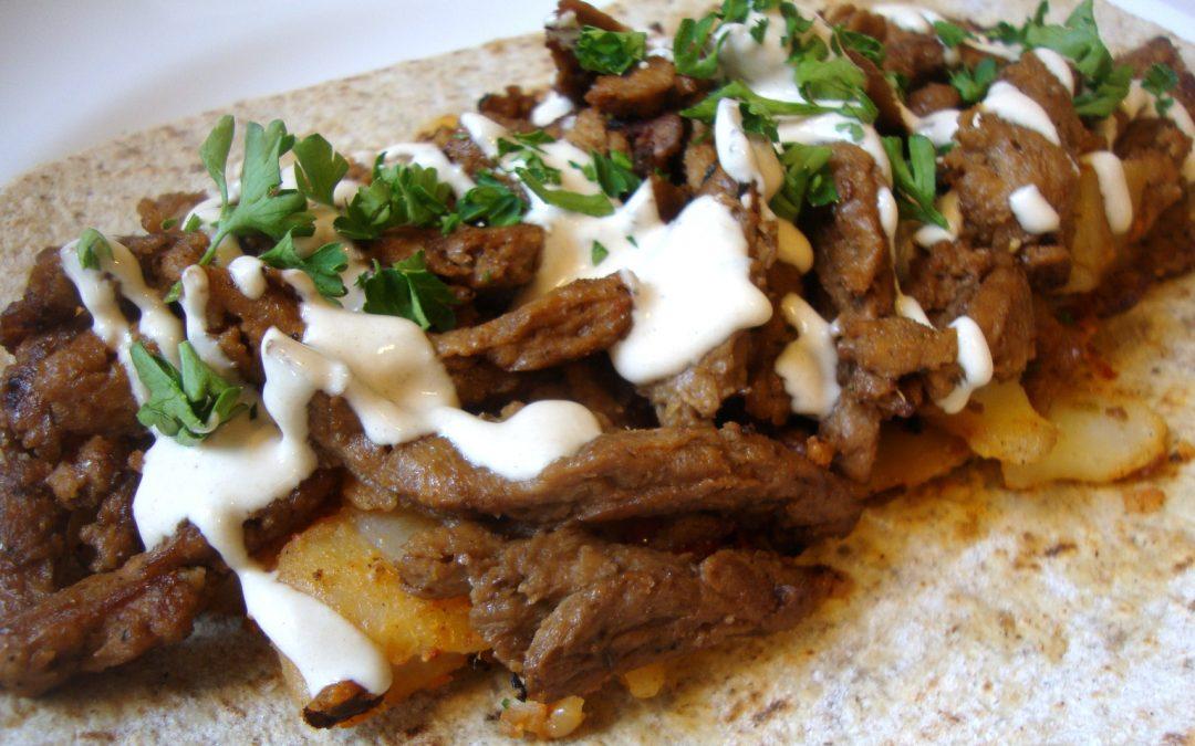 Levantine Shawarma, Vegan-Style with Tahini Sauce