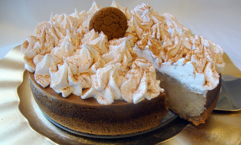 Holiday Gingersnap Cheesecake